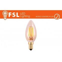FSL C35 4W-360LM300º-35x98mm-2200K-E14AC220-240V CRI 80