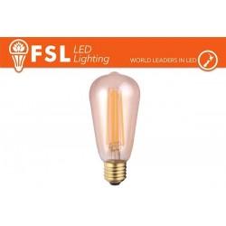 FSL ST56 6W-650LM300º-35x115mm-2200K-E27AC220-240V CRI 80