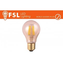 FSL A60 6W-470LM300º-60x102mm-2200K-E27AC220-240V CRI 80
