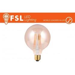 FSL G125 6W-500LM300º-125x133mm-2200K-E27AC220-240V 15KH