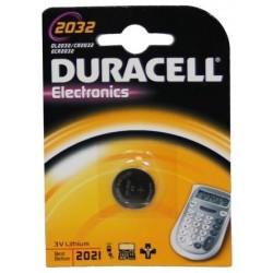 Pile a bottone Duracell DL2032 1x 3v - litio blister