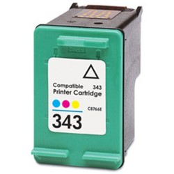 KIT 2 CARTUCCE COMPATIBILI HP 343