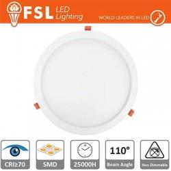 Faretto ad incasso LED IP20 15W 4000K 1100LM 110° Φ192/Φ180