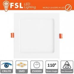 Faretto ad incasso LED IP20 15W 4000K 1150LM 110° Φ200/Φ190