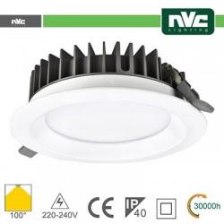 Faretti ad Incasso LED IP40 15W 3000K 1125LM 100º Φ141/Φ125