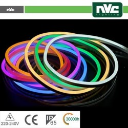 Tubo LED Neon Flessibile - 8W RGB 25Mt IP65 AC220-240V