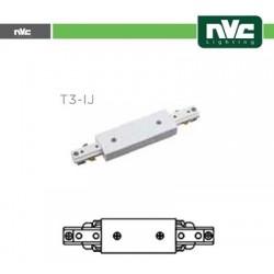 Connettore Forma  I  Binario T3 - Colore Bianco