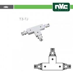 Connettore Forma  T  Binario T3 - Colore Bianco