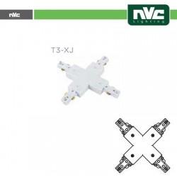 Connettore Forma  X  Binario T3 - Colore Bianco
