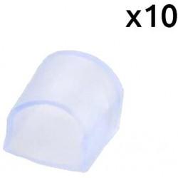 10x - Tappo finale per striscia LED a colore RGB