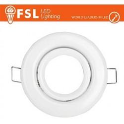 Portafaretto orientabile Color Bianco 90*25/Φ70 - GU10 MR16