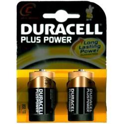 2 pile Duracell PLUS MN1400 1/2torcia 2x 1,5v LR14 - blister