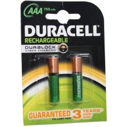 Ministilo AAA ricaricabili 2x 750mAh 1,2v HR03 Duracell