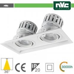 Incasso Multi lampada - 48w(2x24w) 3000k 4270lm 36° PF95