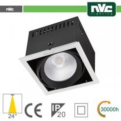 Incasso Multi lampada - 24w(1x24w) 3000k 2100lm24° CRI90