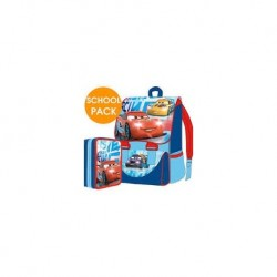 SET ZAINO+PLUMIER 3ZIP CARS ESTENSIBILE